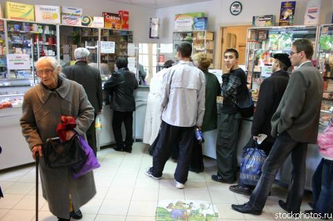 Очередь в Запорожской аптеке
