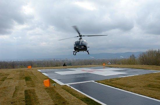 Возле Запорожской областной больницы оборудуют вертолетную площадку